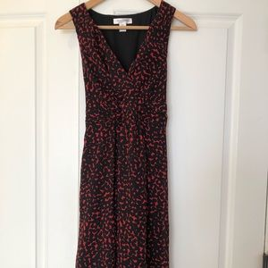 Black and Red Maternity Dress